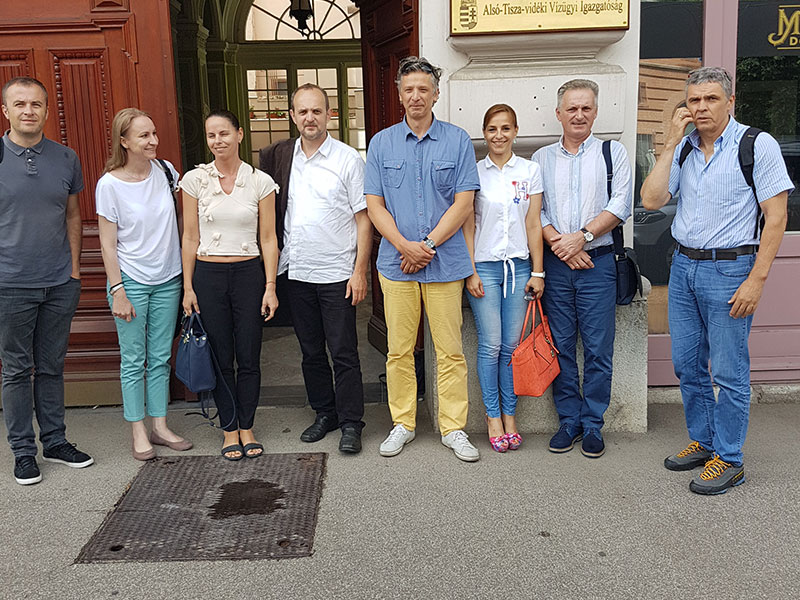 """Project team meeting within the """"Eco-friendly water management against extreme weather conditions in the cross-border area"""" project"""