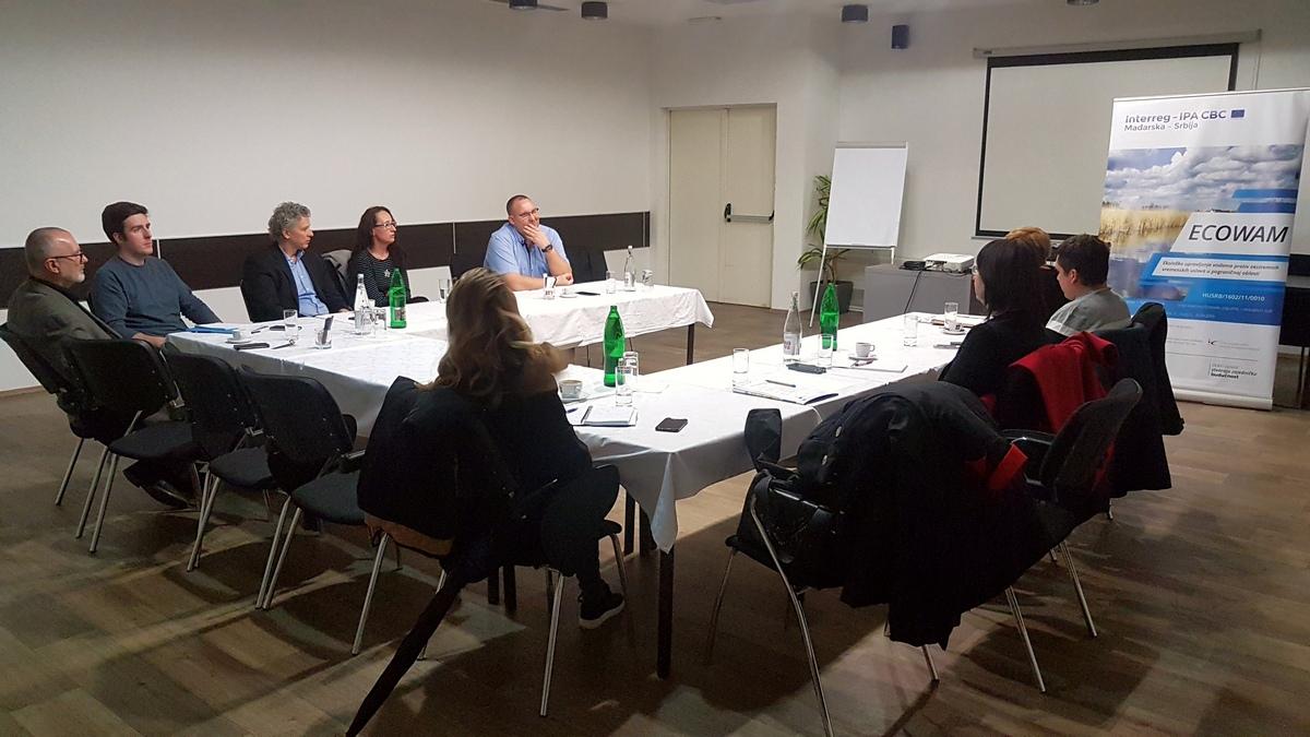A projektcsapat gyűlése és terepi látogatás az ECOWAM projekt keretében